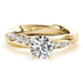 Angelucci-jewelry Round Shape 14-Karat Twisted Shank Channel-Set Diamond Engagement Ring