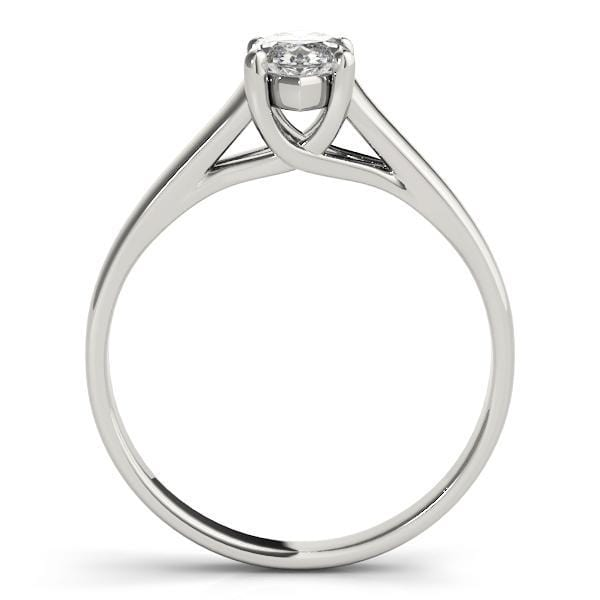 angelucci-jewelry-Marquise Shape 14-Karat Trellis Solitaire Diamond Engagement Ring Plain Band