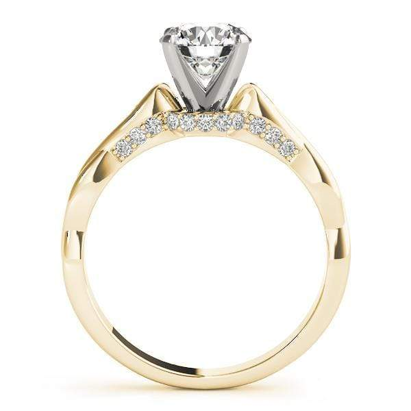 angelucci-jewelry-Round Brilliant Shape Infinity Solitaire Diamond Engagement Ring with Accent Diamonds