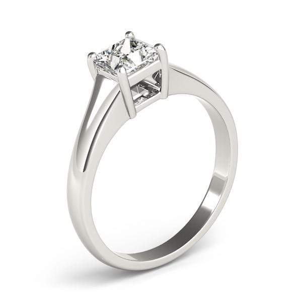 angelucci-jewelry-Princess Shape 14-Karat 4-Prong Set Solitaire Diamond Engagement Ring