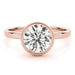 angelucci-jewelry-Round Brilliant Shape 14-Karat Bezel-Set Petite Solitaire Diamond Engagement Ring