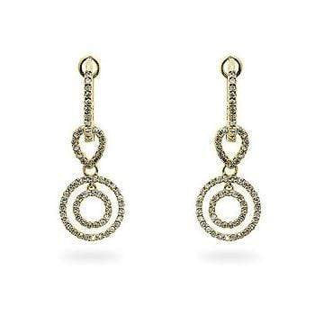 Fine Jewelry Yellow Gold Diamond Dangles angelucci-jewelry