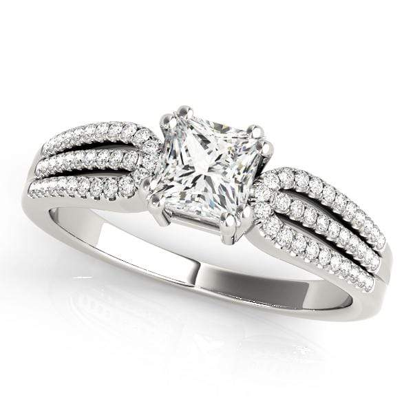 GemFindRing 7 / 14K White Gold / I1| H-I / 0.86-1.14 ENGAGEMENT RINGS MULTIROW angelucci-jewelry