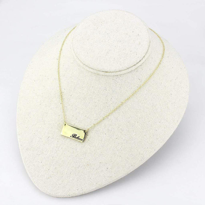 "Necklace 16""+3"" LO4700 Flash Gold Brass Necklace with Top Grade Crystal in Clear angelucci-jewelry"