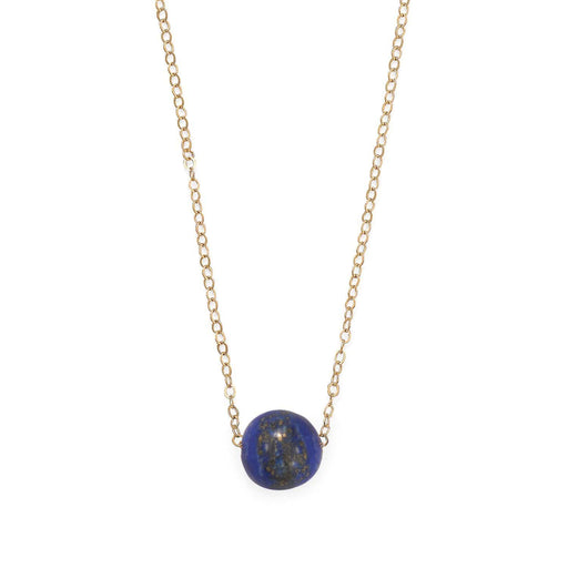 "Necklaces 16"" + 2"" Gold Filled Lapis Necklace angelucci-jewelry"