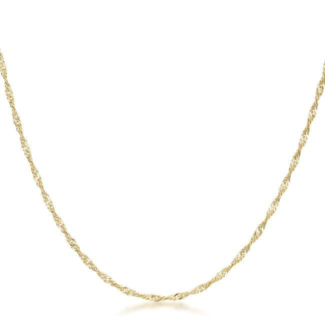 Necklaces 16 Inch Gold Twisted Fashion Chain angelucci-jewelry