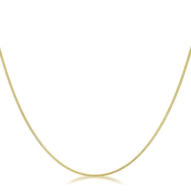 Necklaces 18 Inch Golden Snake Chain angelucci-jewelry