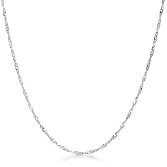Necklaces 18 Inch Silver Twisted Chain angelucci-jewelry