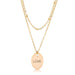 Necklaces 18k Gold Plated Double Chain LOVE Necklace angelucci-jewelry