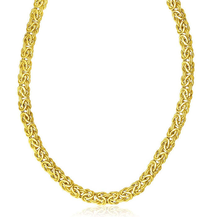 Necklaces 20 14k Yellow Gold Byzantine Design Stylish Necklace angelucci-jewelry