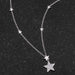 Necklaces .32Ct Rhodium Star Necklace with Shimmering CZ angelucci-jewelry