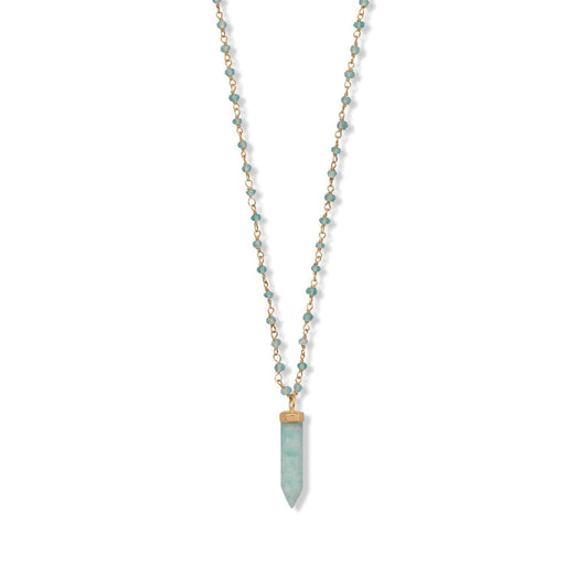 "Necklaces 40 "" Apatite and Amazonite Necklace angelucci-jewelry"