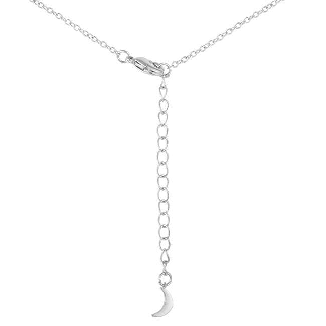Necklaces .6Ct Dazzling Rhodium Moon and Stars Necklace with CZ angelucci-jewelry