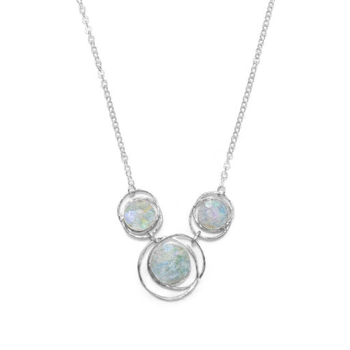 Necklaces Abstract Circle Roman Glass Necklace angelucci-jewelry