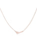 Necklaces Arianna Rose Gold Stainless Steel Arrow Necklace angelucci-jewelry