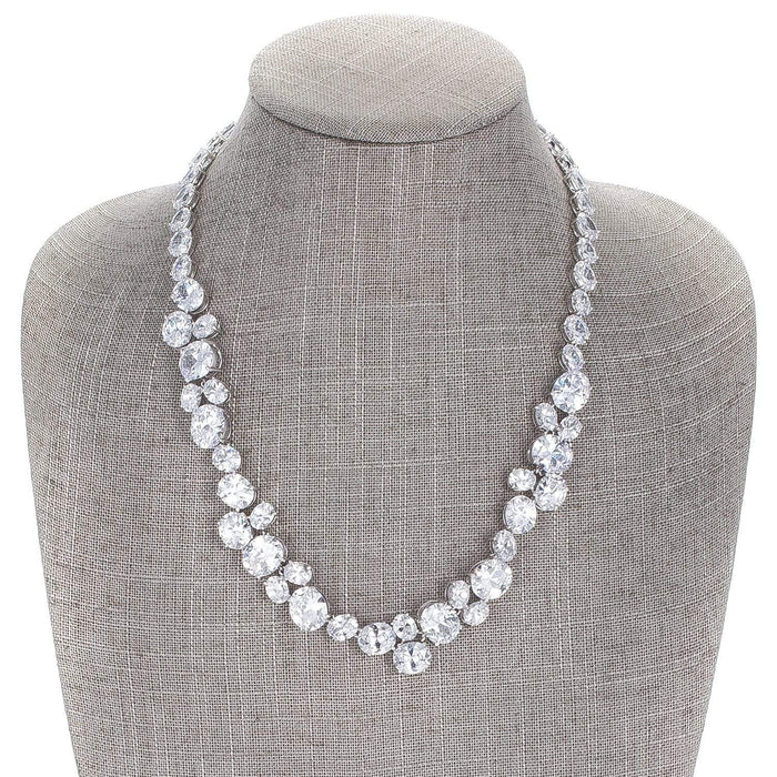 Necklaces Bejeweled Cubic Zirconia Collar Necklace angelucci-jewelry