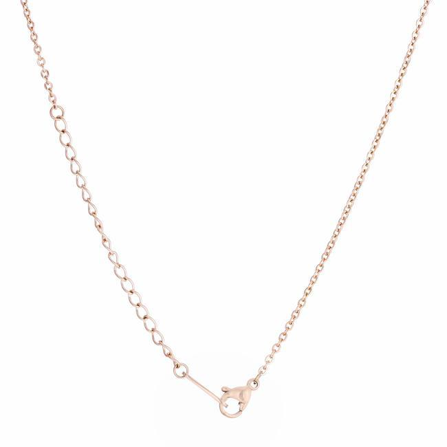 Necklaces Cathy 0.2ct CZ Rose Gold Stainless Steel Drop Nail Necklace angelucci-jewelry