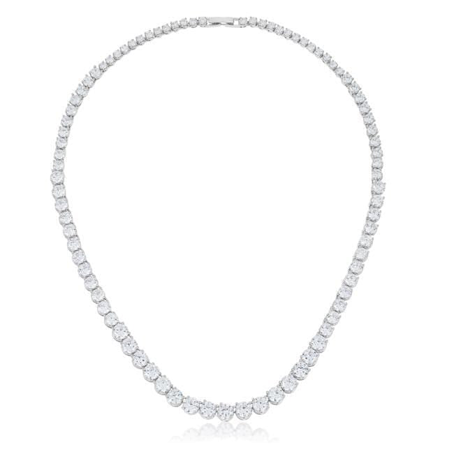 Necklaces Graduated Cubic Zirconia Necklace angelucci-jewelry