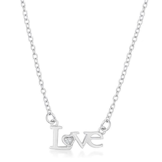 Necklaces Love Script Necklace angelucci-jewelry