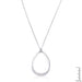 Necklaces Rhodium Plated Crystal Teardrop Necklace angelucci-jewelry