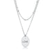 Necklaces Stainless Steel Double Chain LOVE Necklace angelucci-jewelry