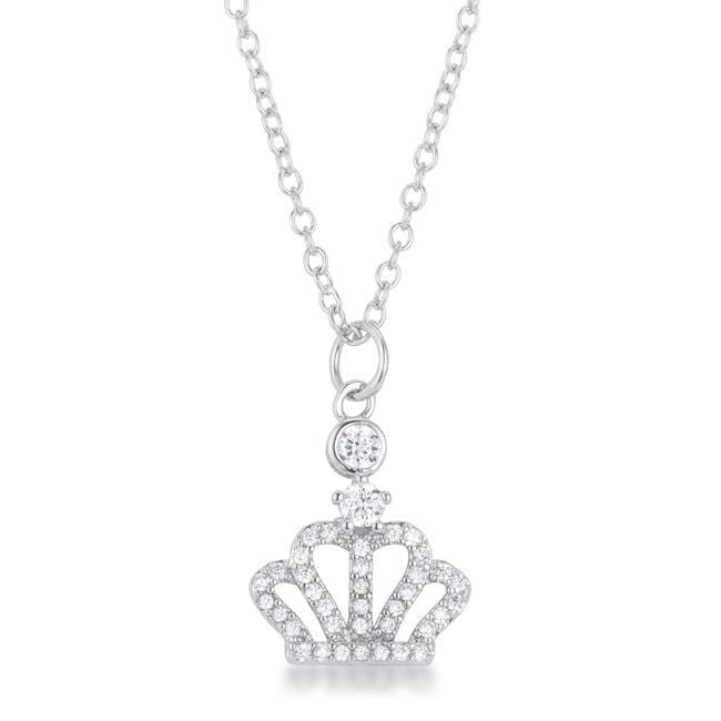 Necklaces Tabitha 0.5 ct Crown Pendant angelucci-jewelry