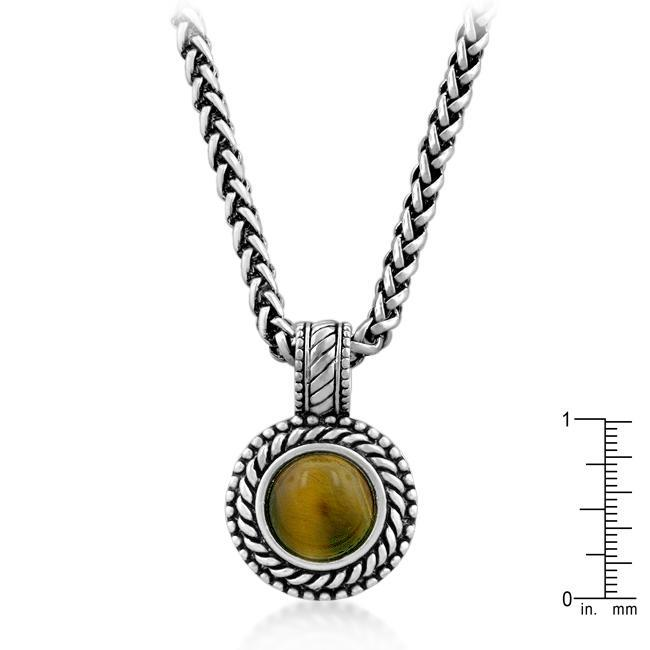 Necklaces Tiger Eye Pendant angelucci-jewelry