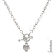 Necklaces Toggle Pave Heart Necklace angelucci-jewelry