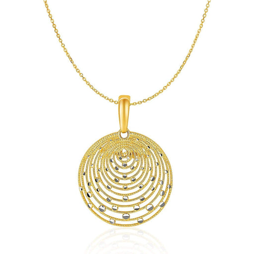 Pendants 18 14k Two-Tone Gold with Graduated Circles Pendant angelucci-jewelry