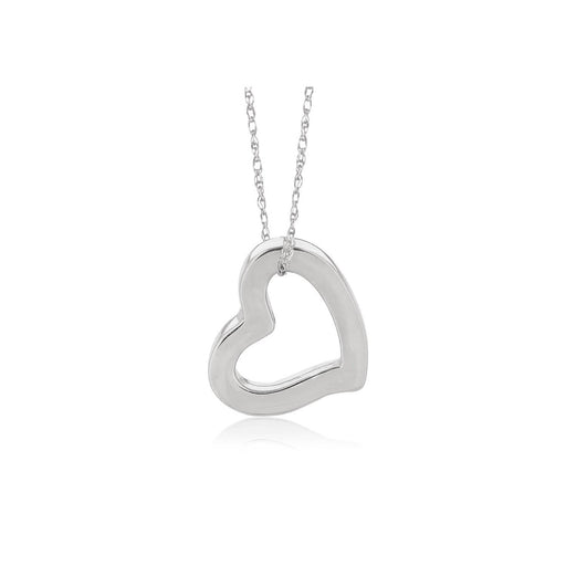 Pendants 18 14k White Gold Heart Pendant angelucci-jewelry
