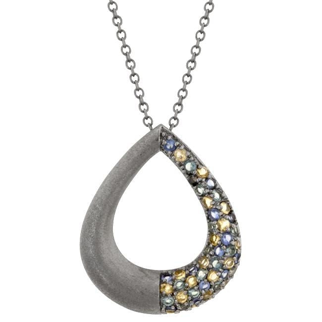 Pendants Black Rhodium Teardrop Pendant angelucci-jewelry