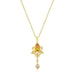 Pendants Golden Elegant Teardrop Crest Pendant angelucci-jewelry