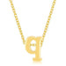 Pendants Golden Initial Q Pendant angelucci-jewelry