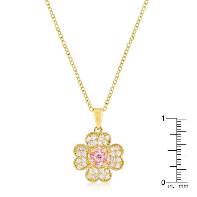 Pendants Goldtone Lucky Clover Pendant angelucci-jewelry