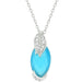 Pendants Leaf and Aqua Beauty Pendant angelucci-jewelry