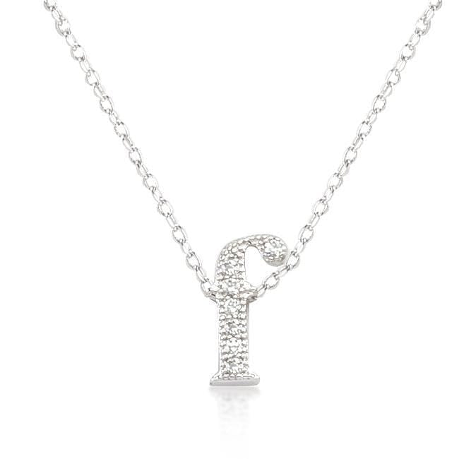 Pendants Micro-Pave Initial F Pendant angelucci-jewelry
