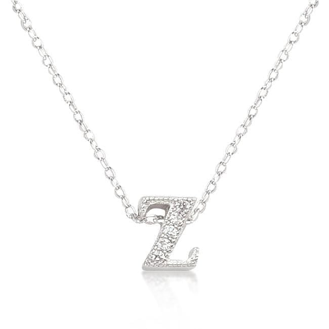 Pendants Micro-Pave Initial Z Pendant angelucci-jewelry