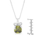 Pendants Olivine Pendant with Bow angelucci-jewelry