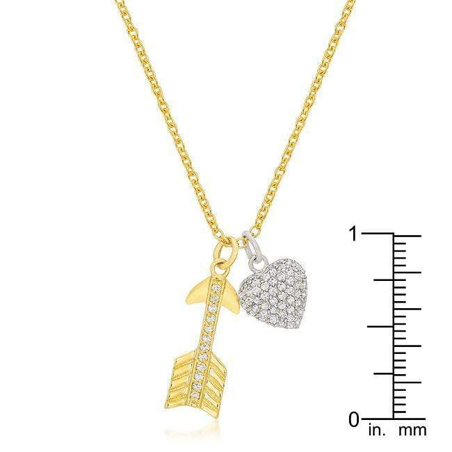 Pendants Pave Heart and Arrow Pendant angelucci-jewelry