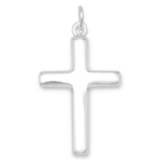 Pendants Plain Polished Cross Pendant angelucci-jewelry