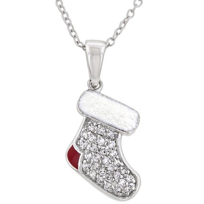 Pendants Red and White Stocking Pendant angelucci-jewelry