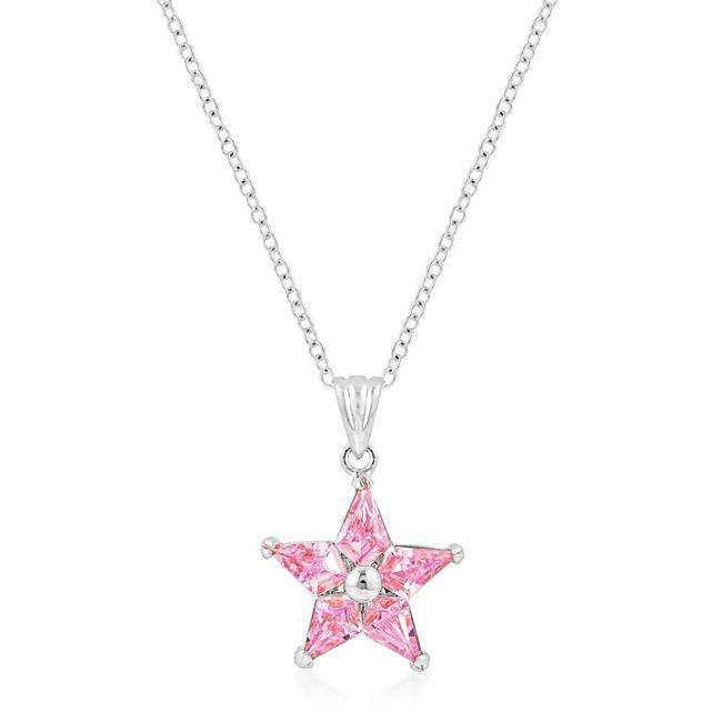 Pendants Rhodium Plated Fancy Star Pendant angelucci-jewelry