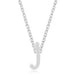 Pendants Rhodium Plated Finish Initial J Pendant angelucci-jewelry