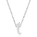 Pendants Rhodium Plated Finish Initial T Pendant angelucci-jewelry