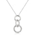 Pendants Rhodium Plated Finish Triplet Hoop Pendant angelucci-jewelry