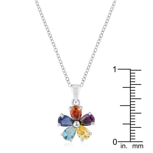 Pendants Rhodium Plated Pedal Pendant angelucci-jewelry