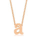 Pendants Rose Gold Finish Initial A Pendant angelucci-jewelry