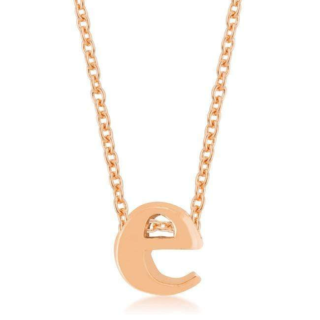 Pendants Rose Gold Finish Initial E Pendant angelucci-jewelry