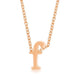 Pendants Rose Gold Finish Initial F Pendant angelucci-jewelry
