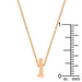 Pendants Rose Gold Finish Initial I Pendant angelucci-jewelry
